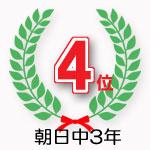 朝日中3年学年4位獲得