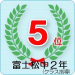 富士松中2年5位